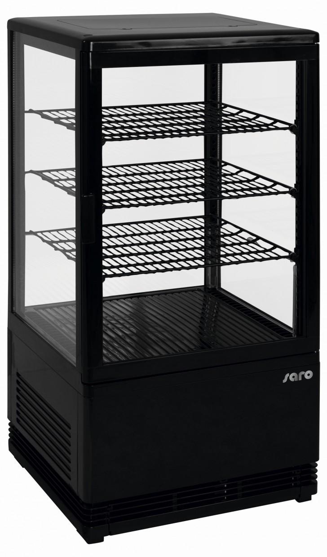 Saro mini-koelvitrine 70 liter SC 70 zwart