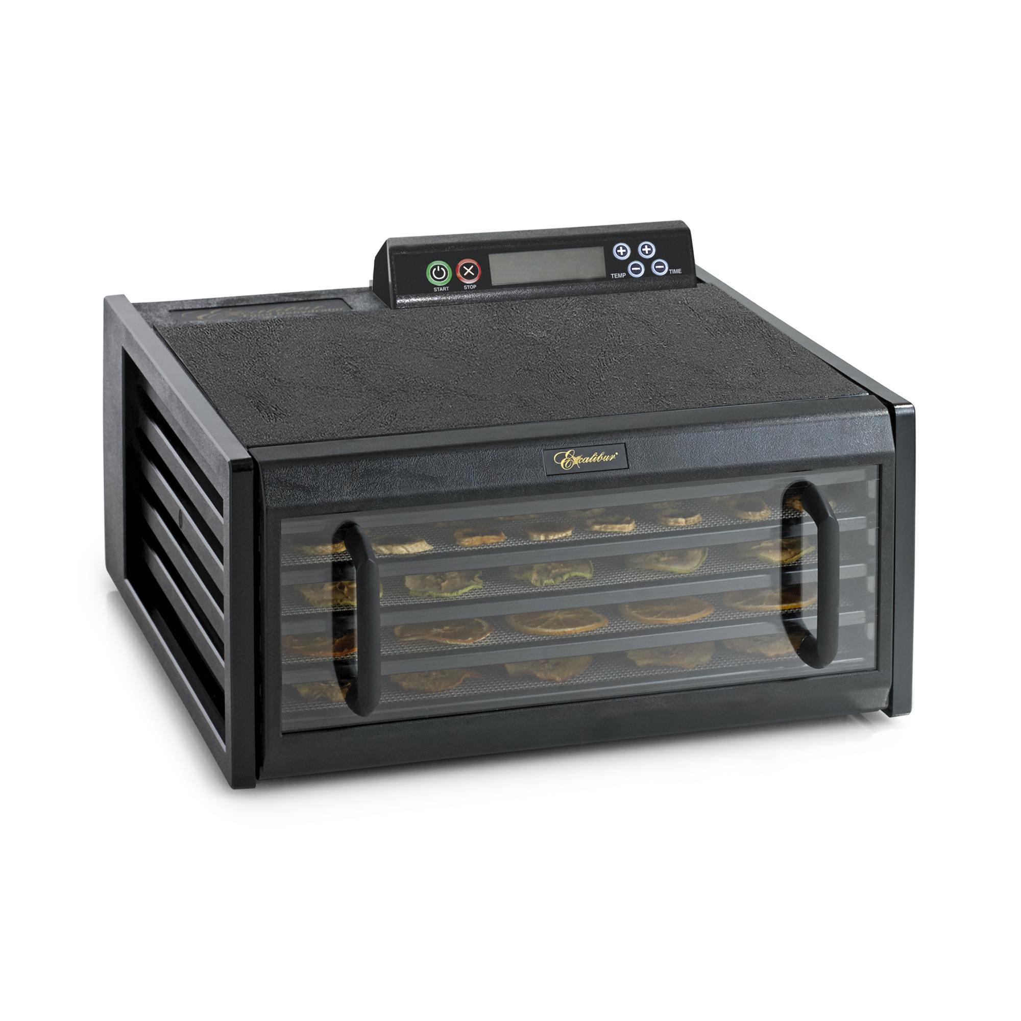 Excalibur 4548CDBF Voedseldroger-Droogoven-5 lades-LCD display-Glazen deur