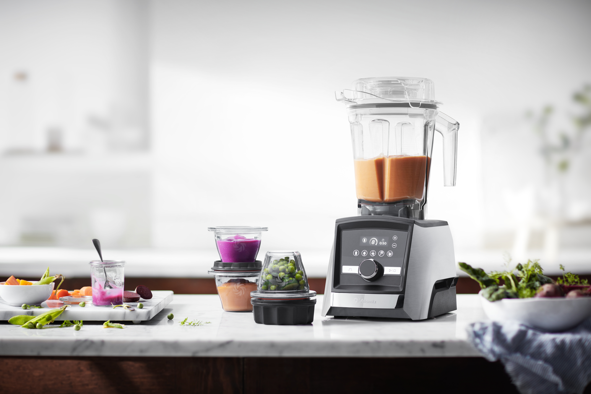 Vitamix 3500i Ascent blender-LCD display-RVS