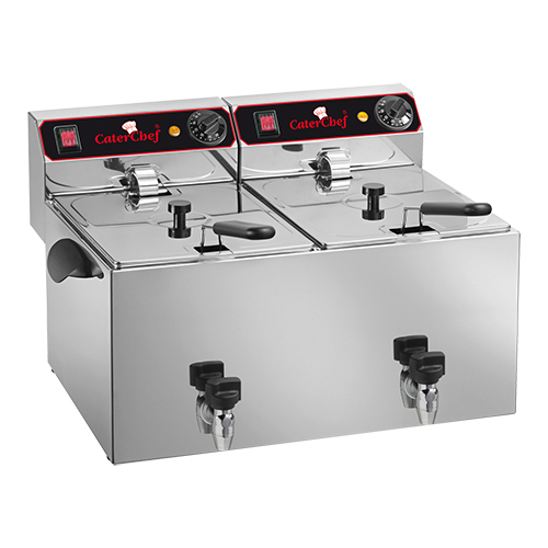 Caterchef friteuse 9+9 liter