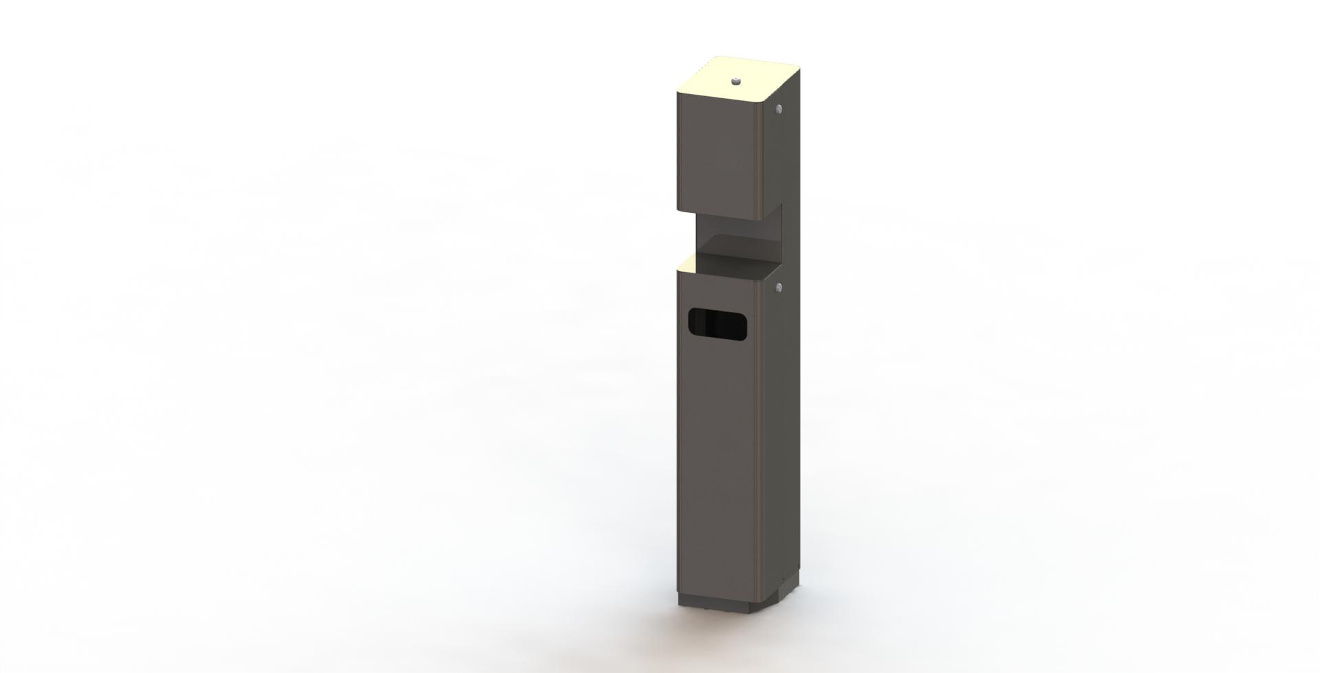 Desinfectiemiddelen dispenser mobiel vloermodel luxe RVS
