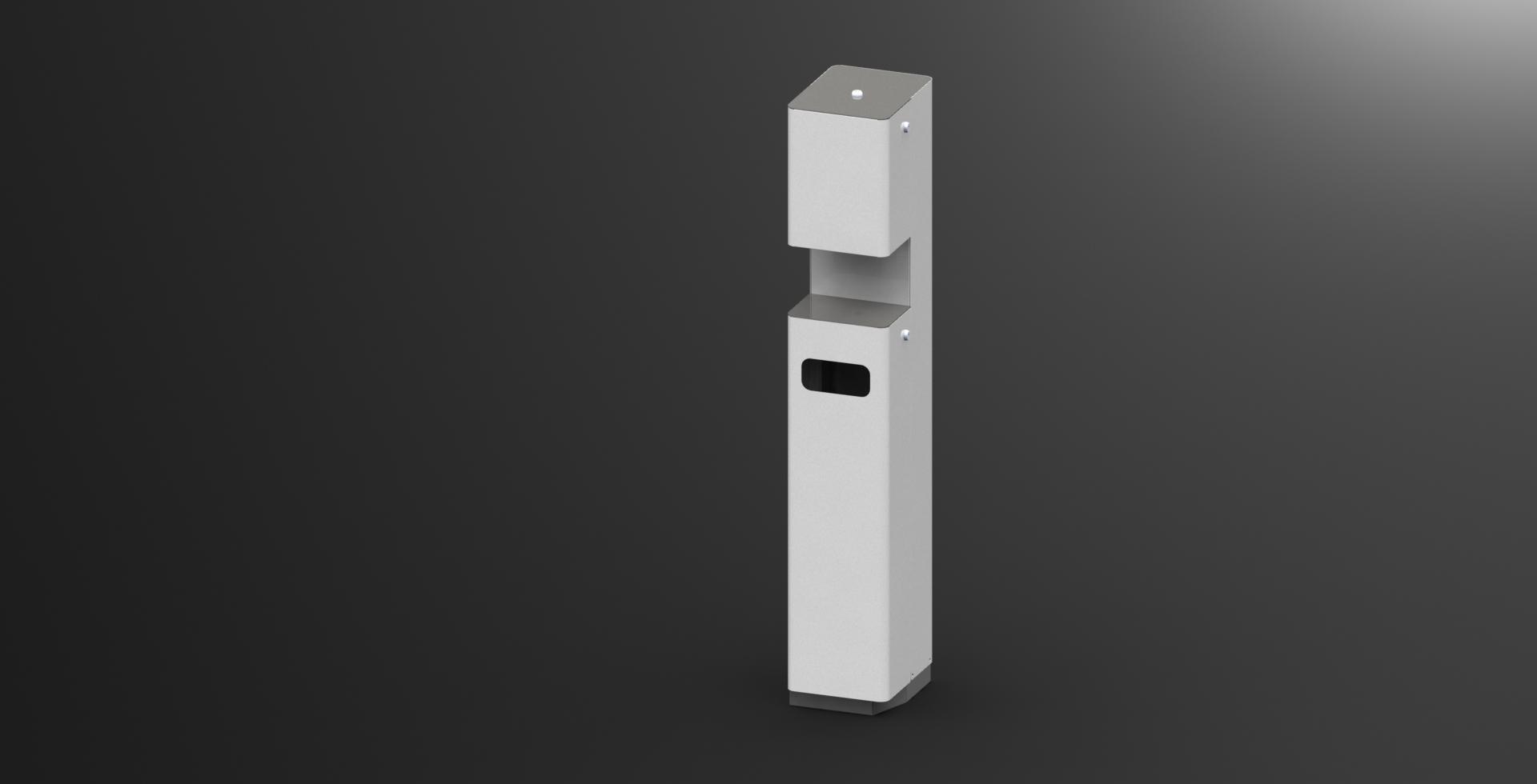 Desinfectiemiddelen dispenser mobiel vloermodel luxe wit